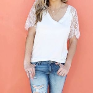 Tops - Lace V-Neck Top